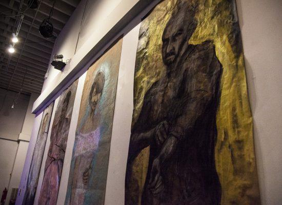 7-foot-tall portraits